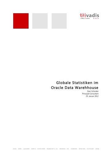 Globale Statistiken im Oracle Data Warehouse.pdf, Seiten ... - Trivadis