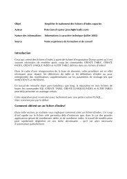 Introduction Comment obtient-on un fichier d'index? - Trivadis