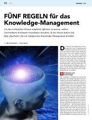 FÜNF REGELN für das Knowledge-Management - Trivadis