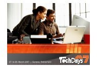 27. to 28. March 2007 | Geneva, Switzerland - Trivadis
