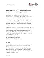 Data Lifecycle Management im BI Umfeld - Trivadis