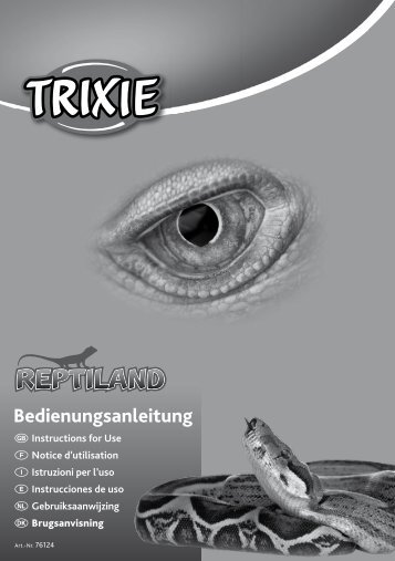 Bedienungsanleitung - Trixie