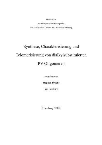 Synthese, Charakterisierung und Telomerisierung - Chemie ...