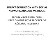 IMPACT EVALUATION WITH SOCIAL NETWORK ANALYSIS METHODS.