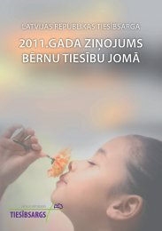 2011.gada ziņojums bērnu tiesību jomā - Tiesībsarga birojs