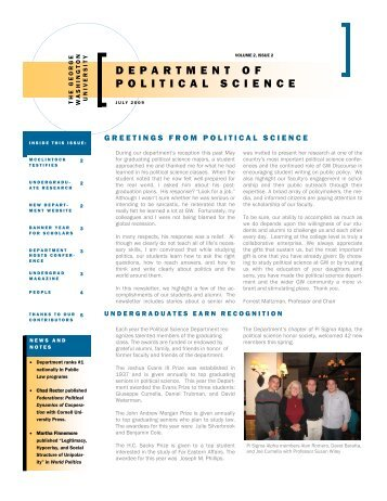 July 2009 Newsletter - Departments & Programs - George ...
