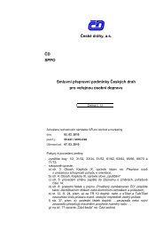 České dráhy, a.s. ČD SPPO Smluvní přepravní podmínky ... - NetNews