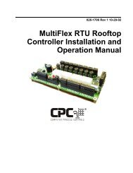 MultiFlex RTU Rooftop Controller Installation and Operation Manual