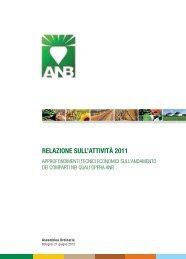 Relazione sull'attività 2011 - Associazione Nazionale Bieticoltori