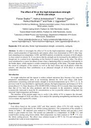 The effect of Ni on the high-temperature strength ... - Austria Metall AG