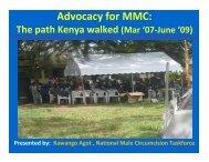 Advocacy for MMC: The path Kenya walked (Mar 07 ... - AIDSTAR-One