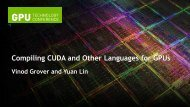 Compiling CUDA and Other Languages for GPUs