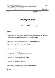 Klausur Aufgaben IuF SS09_V1.1 - Lehrstuhl für Bankwirtschaft ...