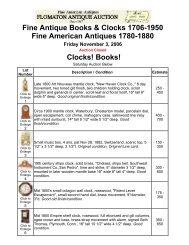 Fine Antique Books & Clocks 1706-1950 Fine American ... - Flomaton