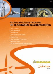 for the aeronautical and aerospace sectors - Fsh Welding Group