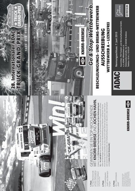 Ausschreibung Knorr-Bremse Go & Stop ... - Truck Grand Prix
