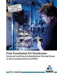 Product Range KURTZ Foundry Machines