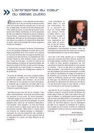 Rapport d'activité 2007 - Institut de l'entreprise