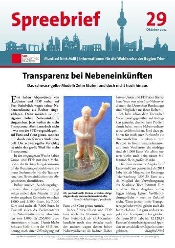 Spreebrief 29 - Manfred Nink