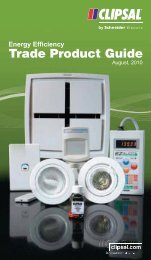 Clipsal Energy Efficiency Trade Product Guide - Nous House