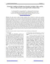 Extraction Conditions of Inulin from Jerusalem Artichoke Tubers and ...