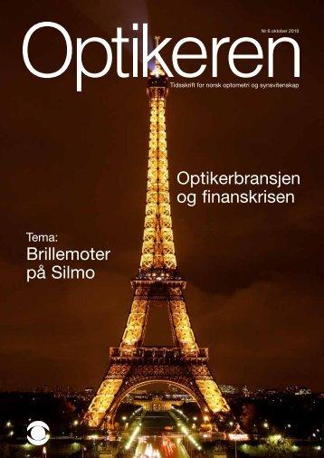 Brillemoter på Silmo Optikerbransjen og finanskrisen