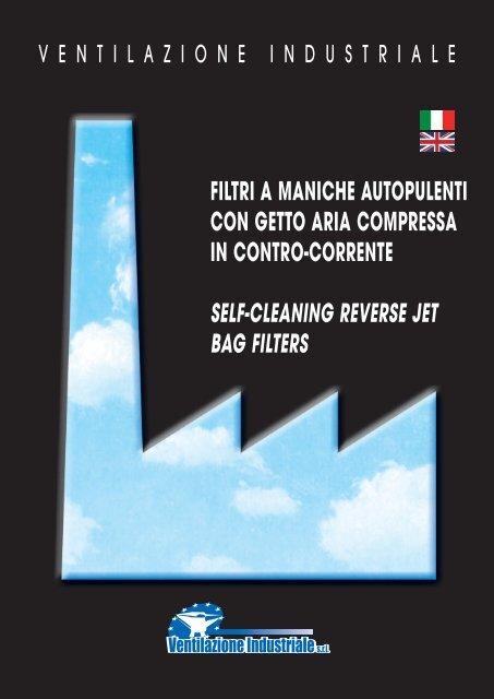 filtri a maniche autopulenti con getto aria compressa in contro ...