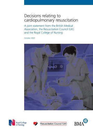 Decisions relating to cardiopulmonary resuscitation