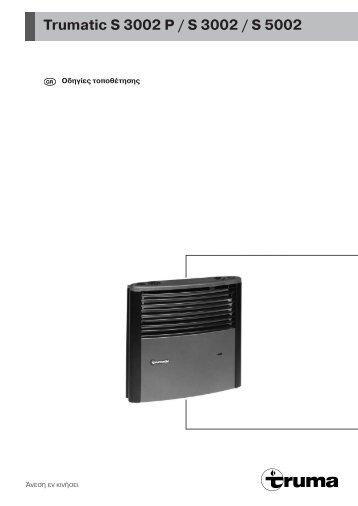 trumatic s3002 gaskachel handleiding. Black Bedroom Furniture Sets. Home Design Ideas