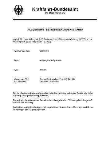 Kraftfahrt-Bundesamt - Truma Gerätetechnik GmbH & Co. KG