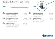 Mode d'emploi / Instructions de montage - Truma Gerätetechnik ...