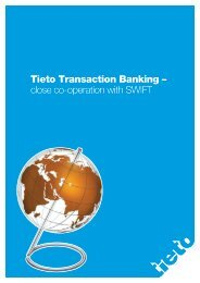 Tieto Transaction Banking – close co-operation with SWIFT