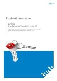 Produktinformation - Tieto