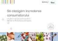 Să câştigăm încrederea consumatorului - Consumer Pact