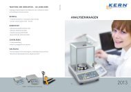 ANALYSENWAAGEN - KERN & Sohn GmbH