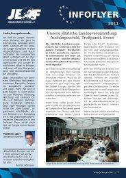 INFOFLYER - Junge Europäer Bayern
