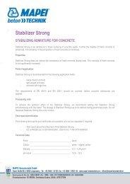 DURIMENT Stabilizer Strong - MAPEI Betontechnik