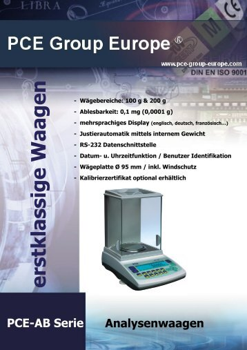 Analysenwaage - Paper-consult.com
