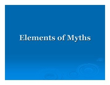 Elements of myths ppt
