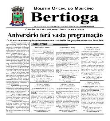 42 - Prefeitura do Município de BERTIOGA.