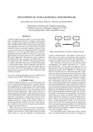DEVELOPMENT OF AN FPGA-BASED REAL-TIME P300 SPELLER ...