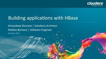 Using HBase Presentation - Cdn.oreilly.com