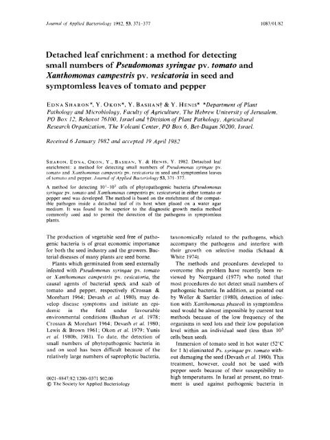 Journal of Applied Bacteriology 53 - bashanfoundation