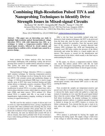 Combining High-Resolution Pulsed TIVA and ... - ASM International