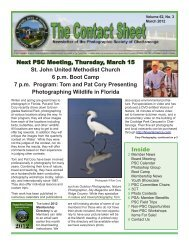 March 2012 - Photographic Society of Chattanooga