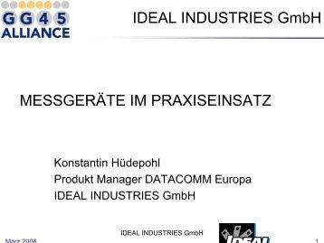 IDEAL INDUSTRIES GmbH MESSGERÄTE IM PRAXISEINSATZ