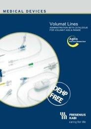 Volumat Lines Tubing Set Catalogue - Download - Fresenius Kabi