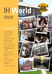 IN thIs Issue » - International House - University of Queensland