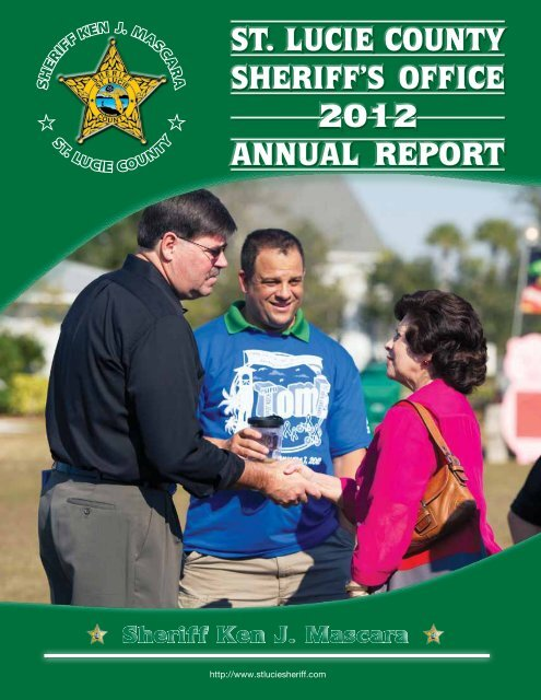 ST. LUCIE COUNTY SHERIFF'S OFFICE 2012 ANNUAL REPORT