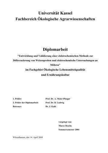 Entwicklung und Validierung einer elektrochemischen Methode zur ...
